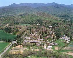 Aerial View of Warren Wilson College in Swannanoa, NC
