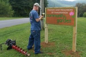 New Sign for Community Garden