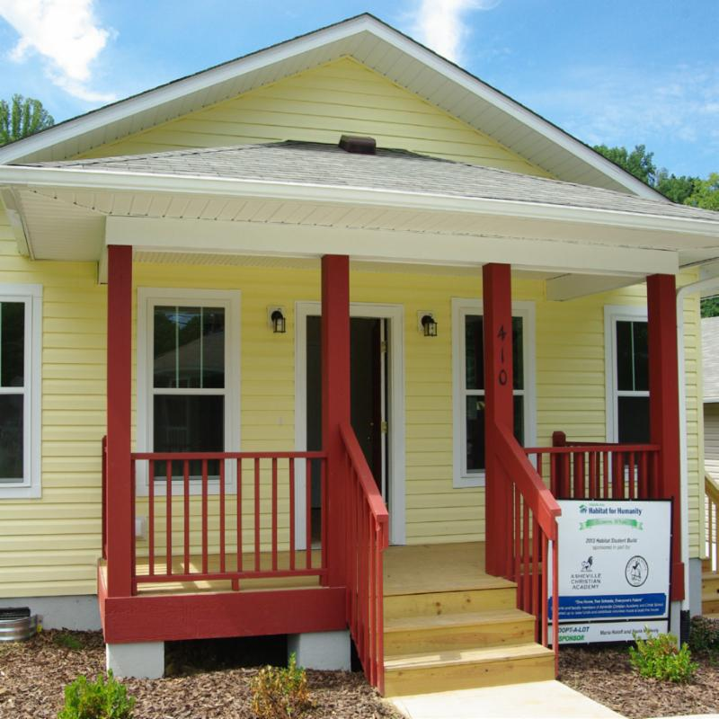 First home at swannanoa s new habitat community is now - House habitat ...