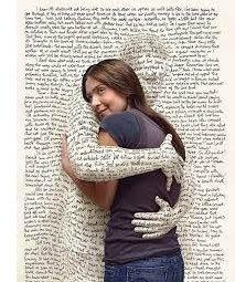 Hugging a book