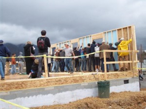 Swannanoa Habitat Wall Raising 2-28-14