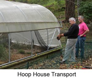 Hoop House for Swannanoa Community Garden