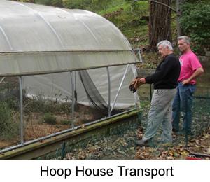 Hoop House for Swannanoa Community Garden