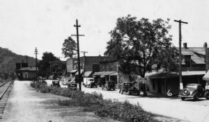 Old photo of railroad in Swannanoa, NC