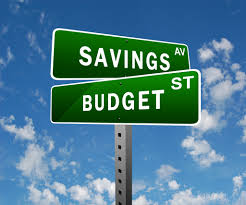 Savings and Budget Street Signs