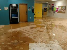 Flood damage at Artspace School in Swannanoa, NC