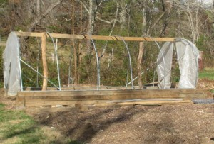 Damaged Hoop House Greenhouse from Swannanoa Community Garden