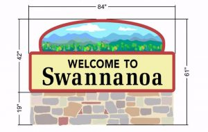 Proposed new Welcome to Swannanoa sign
