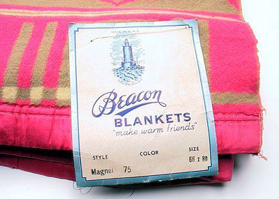 Blanket Sample from old Beacon Mill, Swannanoa, NC