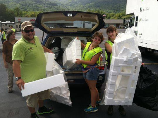 Hard to recycle event in Swannanoa, NC