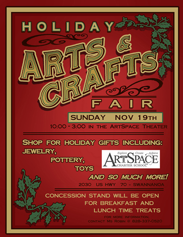 Sign for ArtSpace School Arts and Crafts Fair