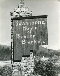 Swannanoa, NC welcome sign, circa 1925