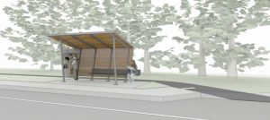 New bus shelter in Swannanoa