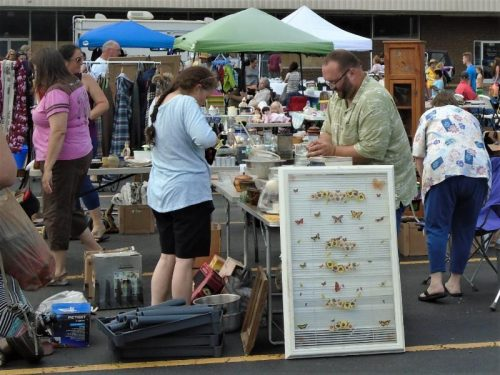 FANS community yard sale in Swannanoa, NC