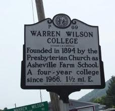 Historic Sign for Warren Wilson College