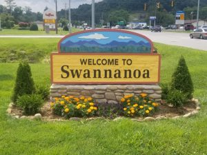 """Welcome to Swannanoa"" Sign"