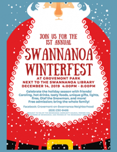 Poster for Swannanoa Winterfest Event 2019
