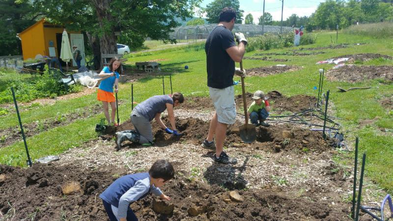 Spring Planting at Swannanoa Community Garden