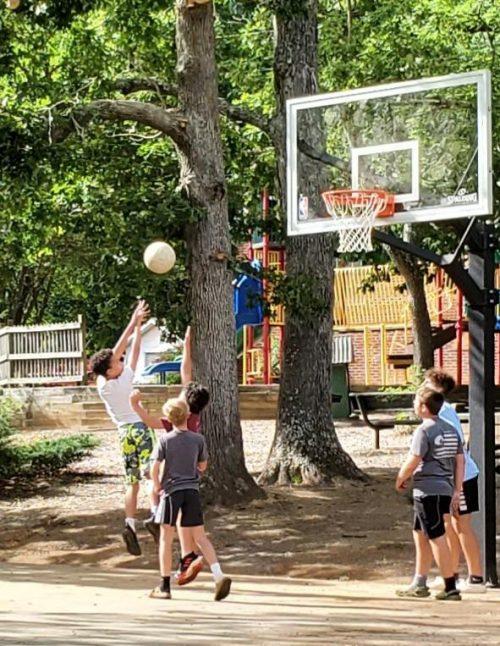 Basketball in Grovemont Park