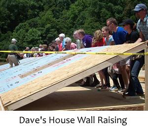 Asheville Habitat for Humanity Wall Raising